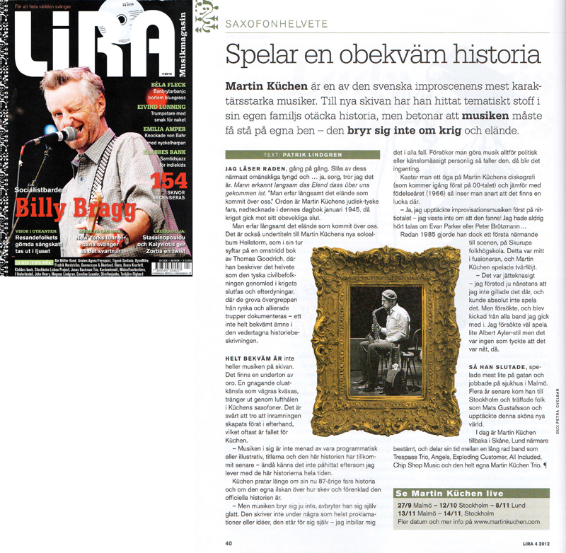 Published photo of Martin Küchen in Lira Magazine