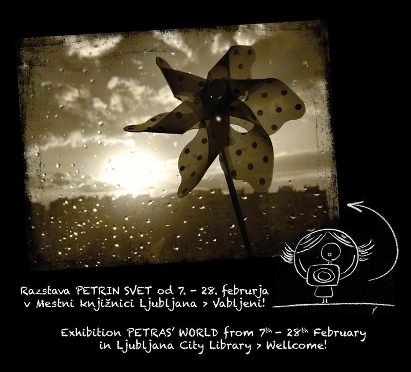 Exhibition Petras' World in Ljubljana City Library