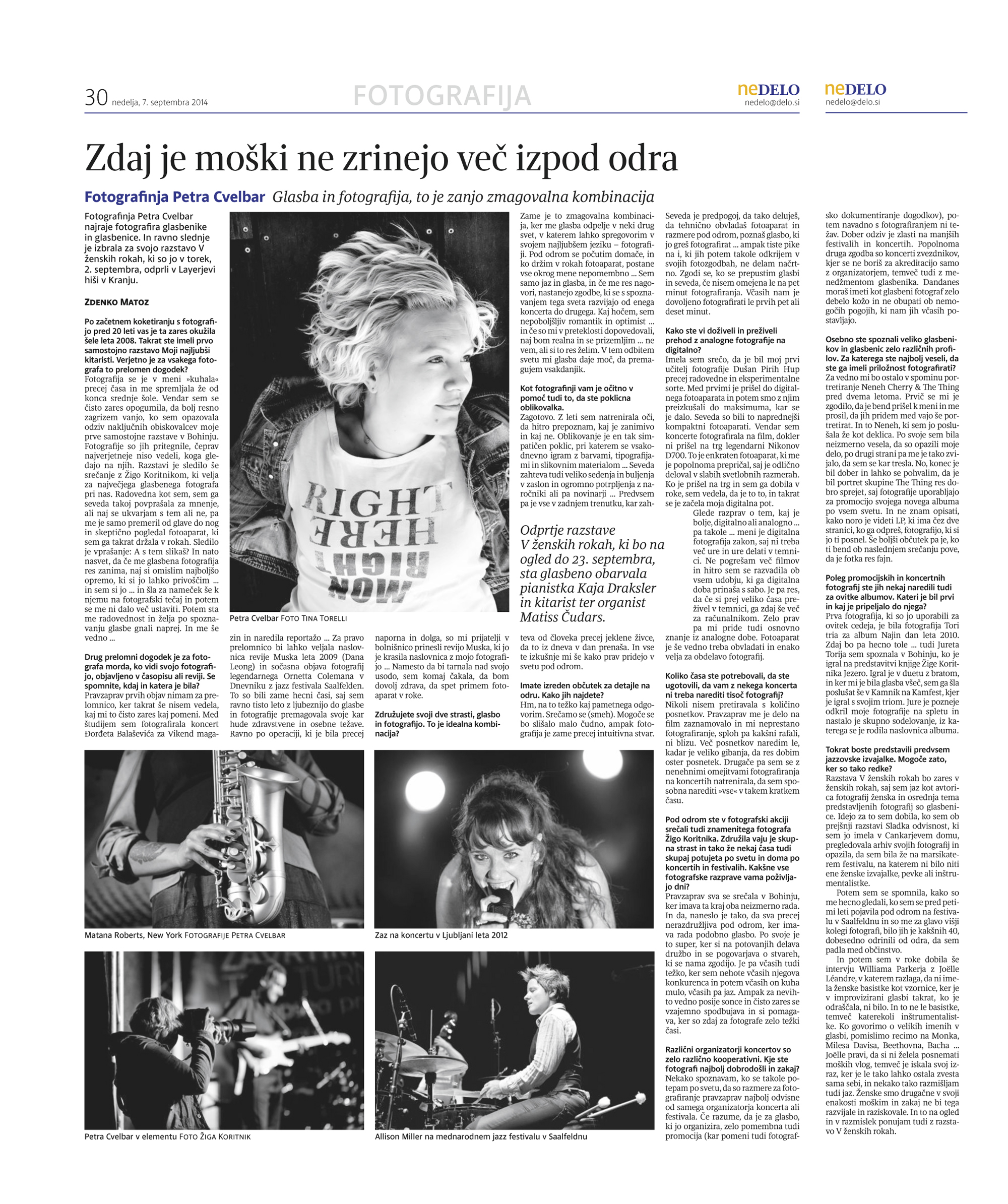 Interview in Nedelo newspaper