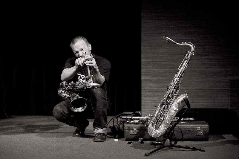 Photo exhibition at Mats Gustafsson's 3-day residency in Porgy & Bess Wien