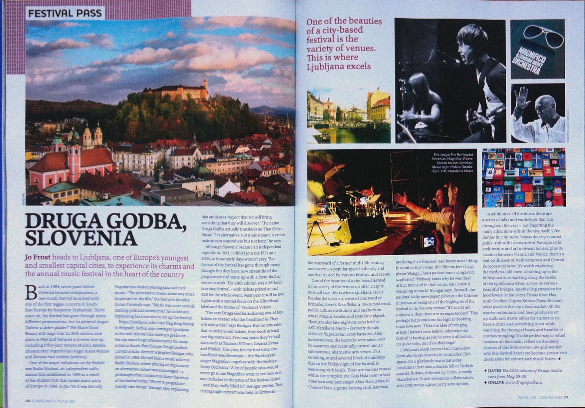 Photos from Druga Godba Festival at Songlines Magazine