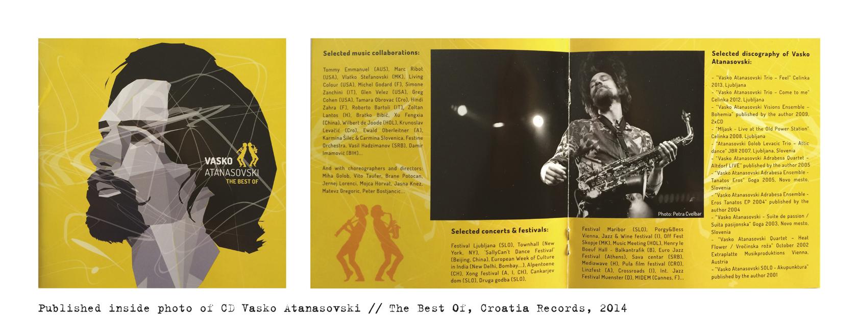 Published photo inside Vasko Atanasovski CD The Best Of